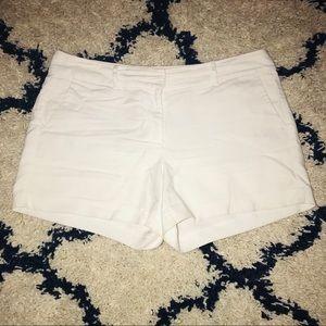 "Ann Taylor LOFT White Chino Shorts 4"" Inseam"